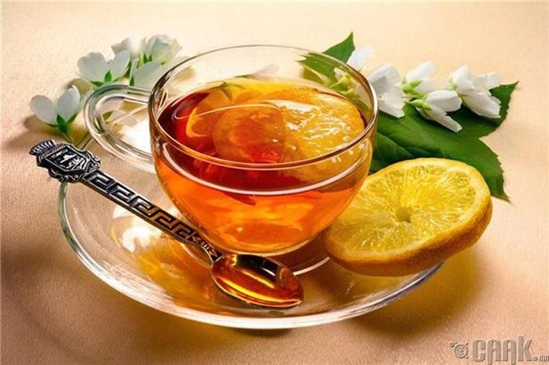 Зөгийн бал нимбэгтэй цай