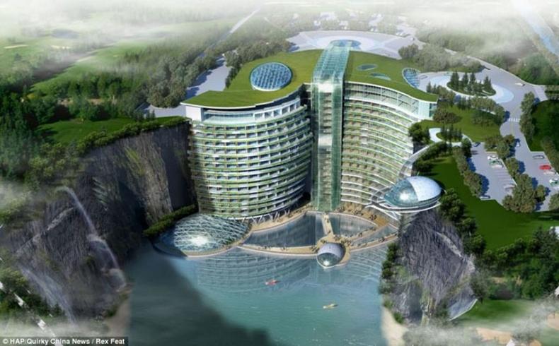 Хятадууд галт уулыг Зочид буудал болгож байна