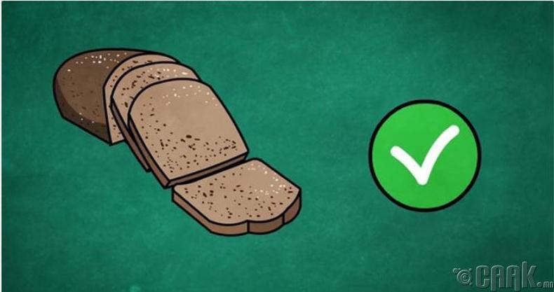 Бүхэл үрийн талх хэрэглэх
