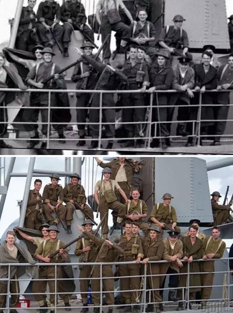 """Даб хийж буй Дэлхийн II дайны үеийн цэрэг гэтэл 2017 оны """"Dunkirk"""" киноны жүжигчид байжээ"""