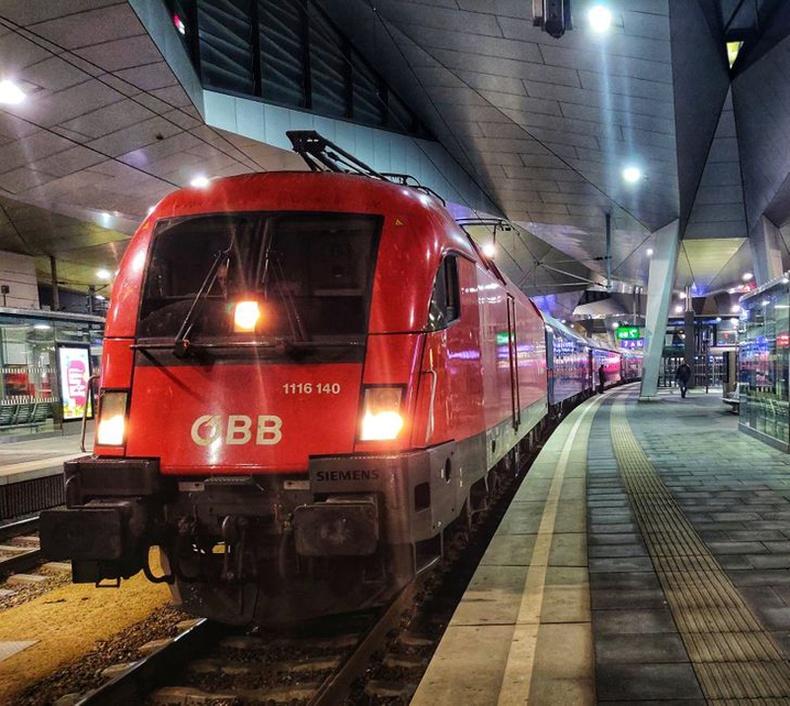 """Австрийн шөнийн галт тэрэг """"Nightjet"""""""