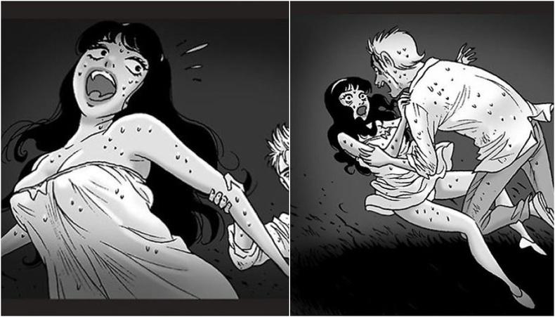 Малайз залуугийн зурсан, жихүүдэс хүргэм түүх өгүүлэх аймшгийн комикууд