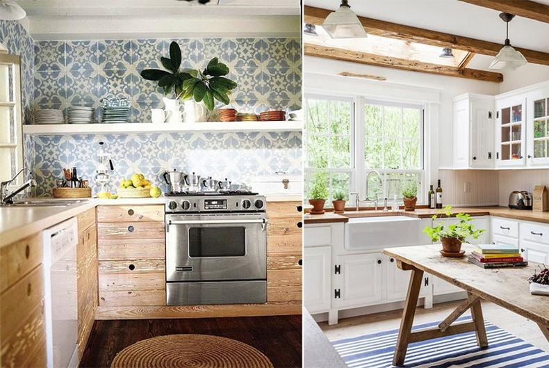 Модоор хийсэн гал тогооны тавилгууд