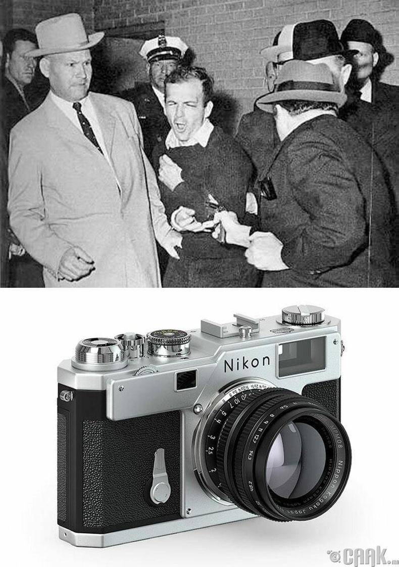 """""""Ли Харви Освальдыг буудсан нь"""", Роберт Жексон, 1963 он. """"Nikon S3"""" камер"""