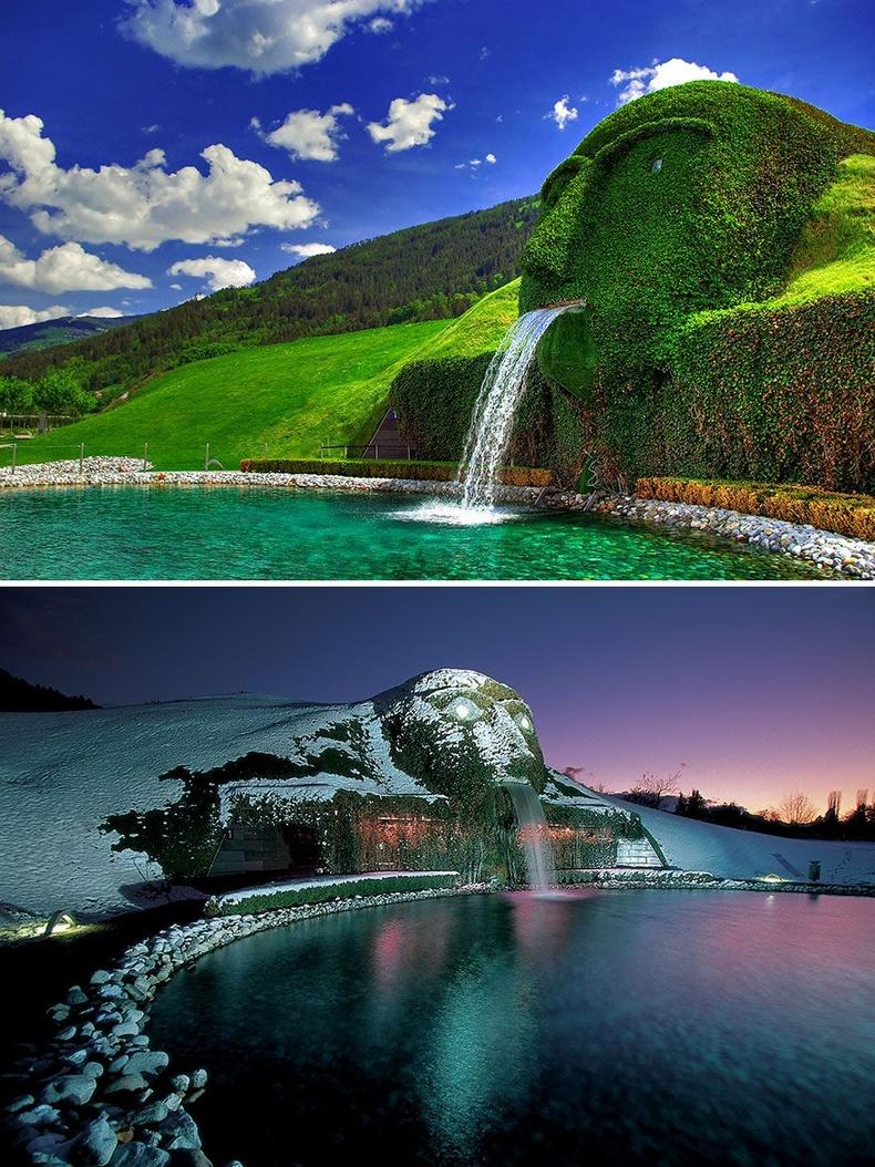"""Swarovski Kristallwelten музейн үүдэн дэх """"Аварга биет"""" усан оргилуур - Ваттен, Австри"""