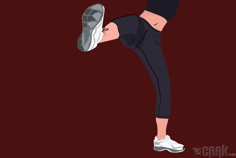 Өшиглөхдөө хөлөө тэгшхэн байлга