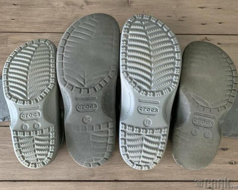 Олон жил өмссөн гутлын ул
