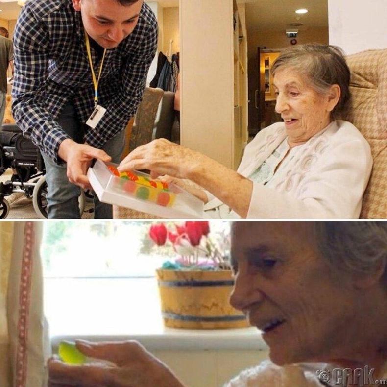 """Альцгеймер өвчнөөс болоод ус ууж чаддаггүй эмээдээ """"идэх боломжтой ус"""" хийж өгчээ."""