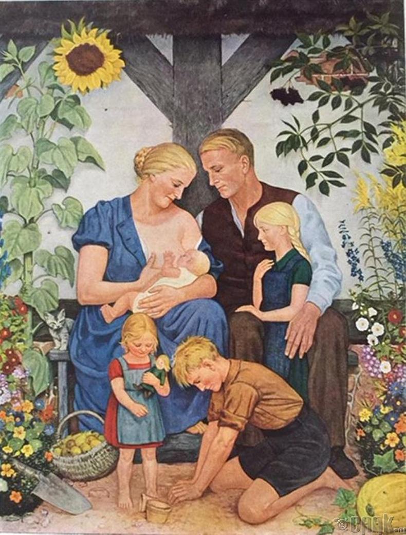 """Ари гэр бүл"" - Нацист Герман, 1938 он"
