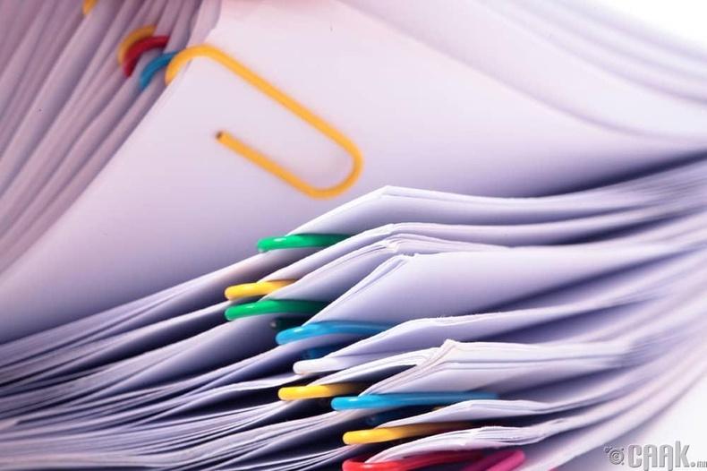 Бичиг баримтуудыг өөр дээрээ цуглуулах