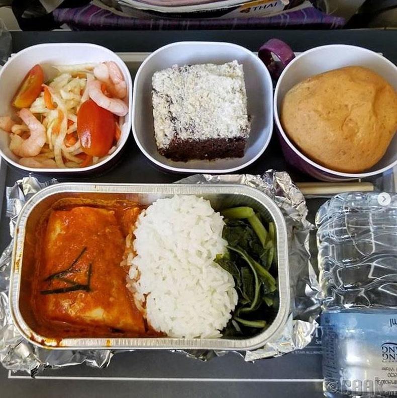 """Thai Airways"" - Загасны махтай карри, сам хорхойн салат"