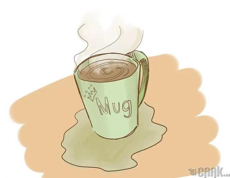 Халуун цай, шөл уух