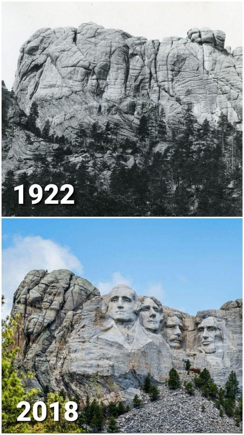 АНУ-ын Рашмор уул - 1922 болон 2018 он.