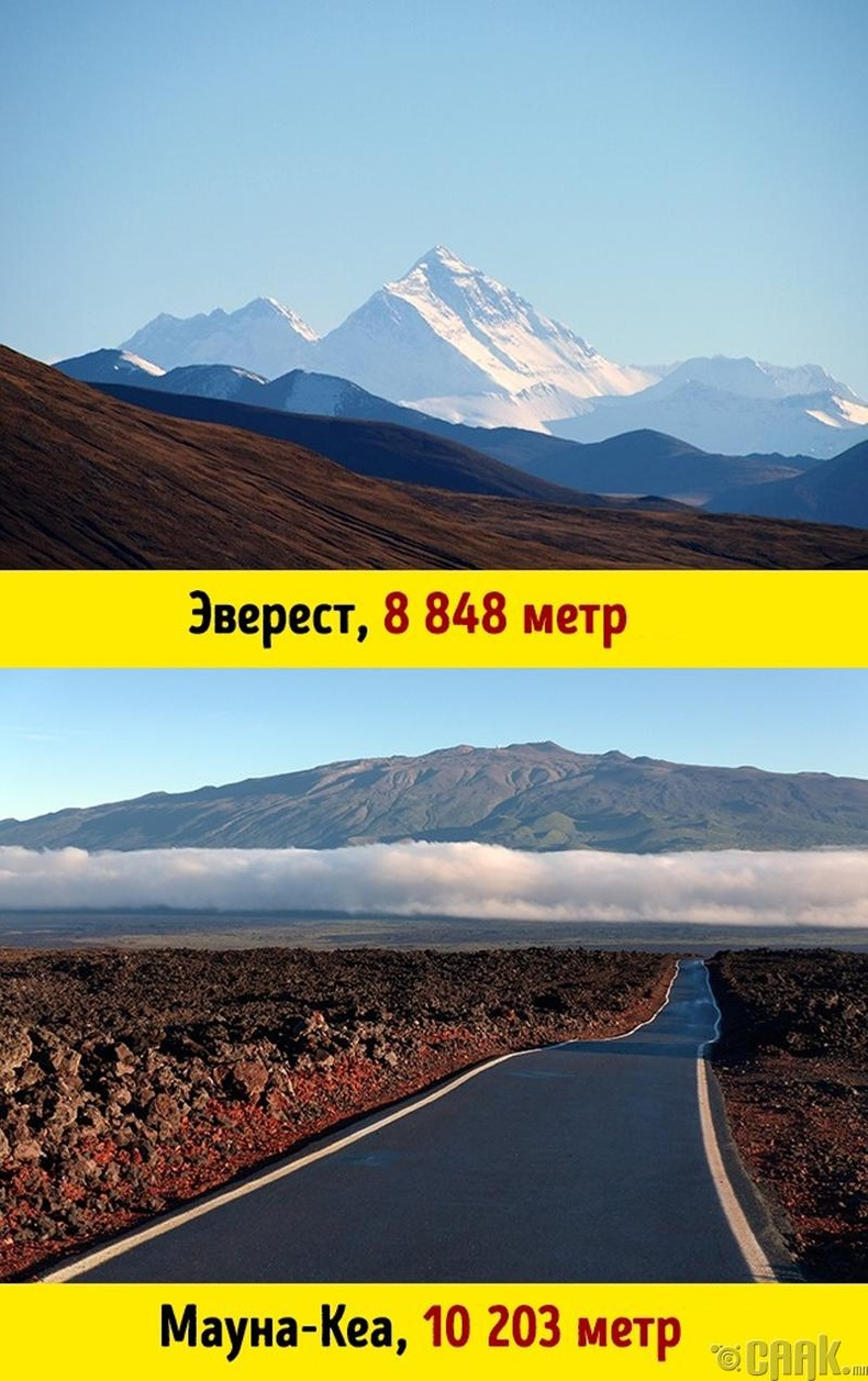 Эверест дэлхийн хамгийн өндөр уул биш