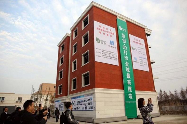 Хятадууд 3D-принтерээр байшин хэвлэжээ