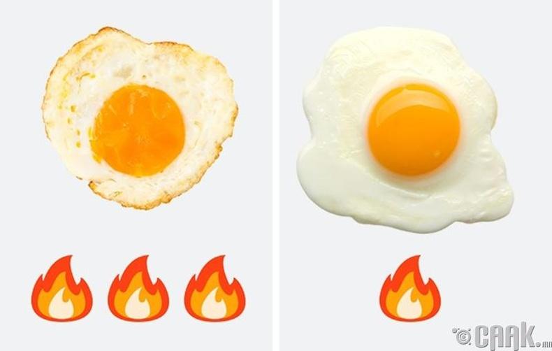 Өндөг шарахдаа масло ашигла