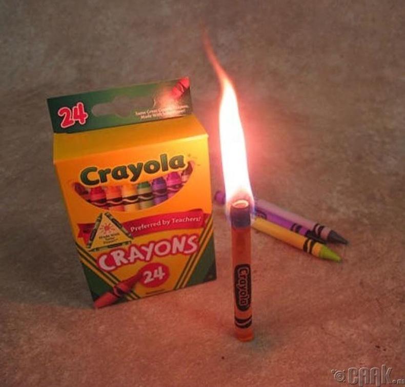 """""""Crayola"""" харандааг лаа болгон ашиглаж болно"""