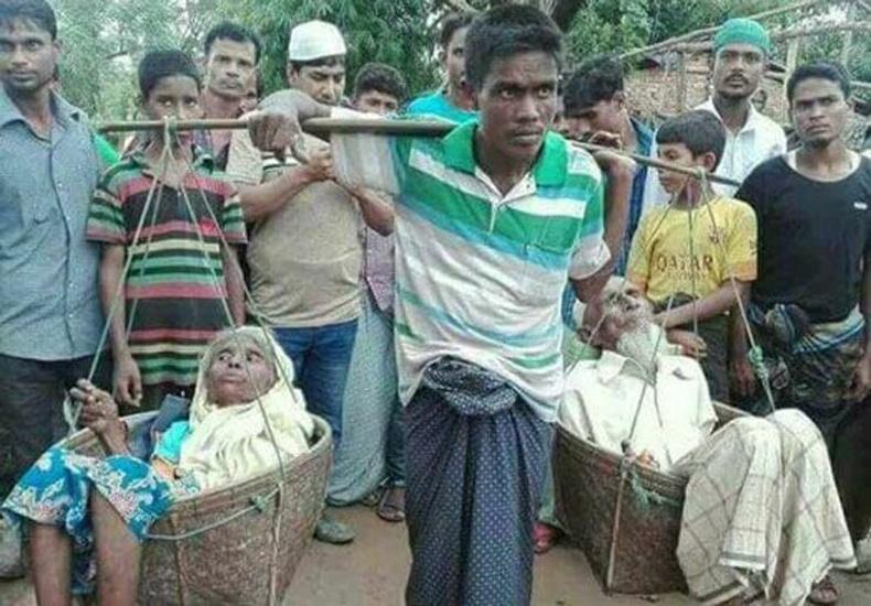 Энэ хүн дайнаас зугтахын тулд Бирмээс Бангладеш руу дүрвэжээ. Гэхдээ тэрээр эцэг эхээ орхиж чадаагүй..