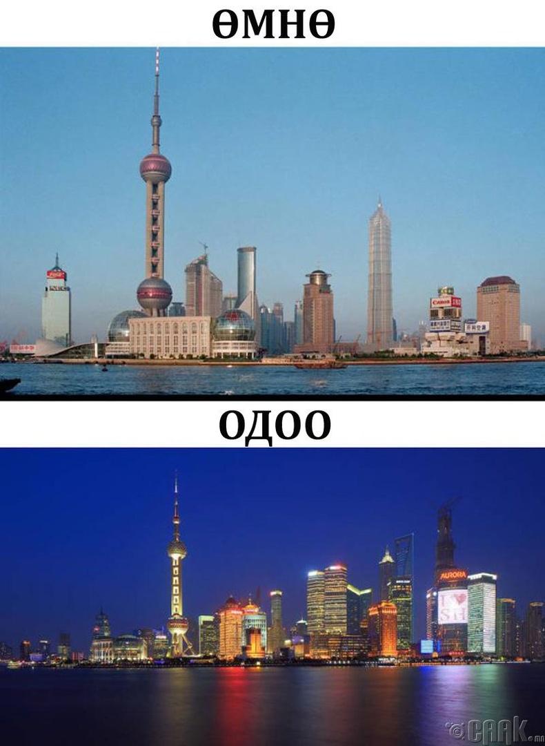 Шанхай хот 20 жилийн хугацаанд тэс өөр болсон.