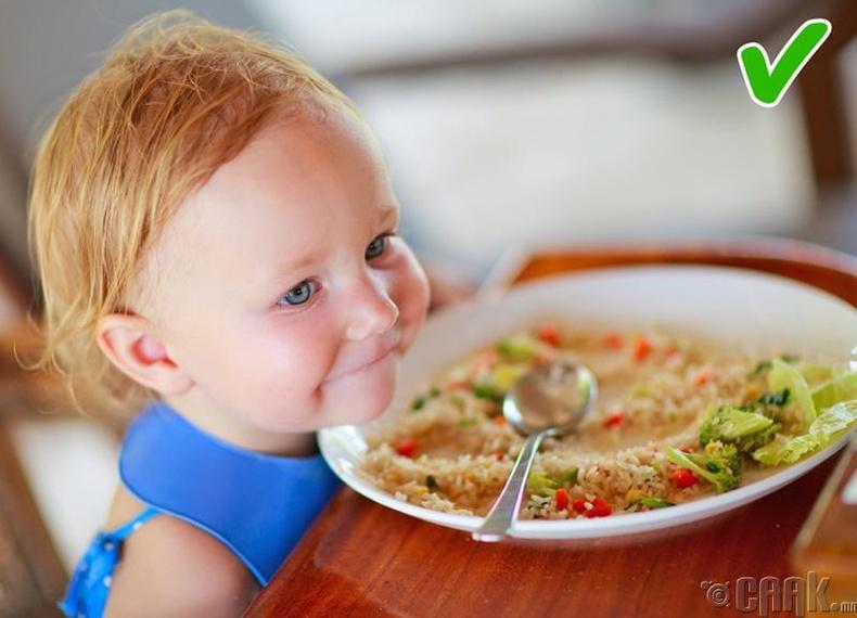 Бонус 1: Хүүхдийн хоолонд  амтлагч аль болох бүү хий