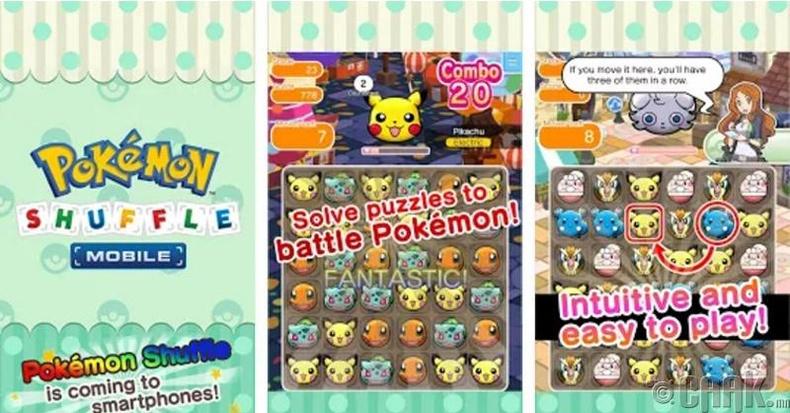 """Шилдэг олон улсын апп: """"Pokemon Shuffle Mobile"""""""