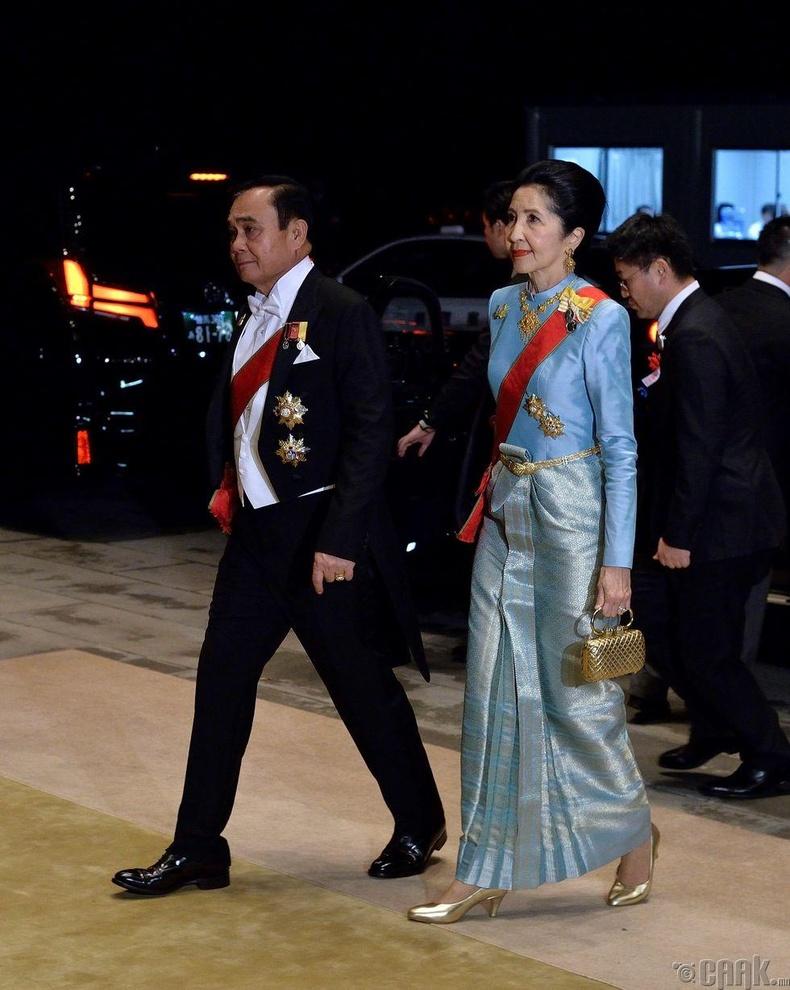 Тайландын Ерөнхий сайд Прают Чан-о-ча болон түүний эхнэр Нарапорн Чан-оча