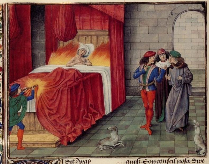 Наваррын хаан  3-р Карл - Амьдаараа шатсан