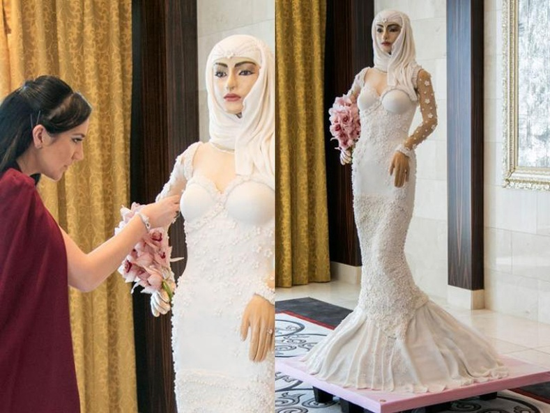 Дэлхийн хамгийн үнэтэй хуримын бялуу (1 сая доллар) Дубайд бүтээгджээ.
