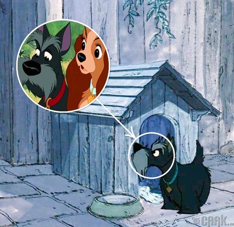 """""""101 далматин"""" ба """"Хатагтай ба Тэнүүлч"""" дээр гардаг нохой"""