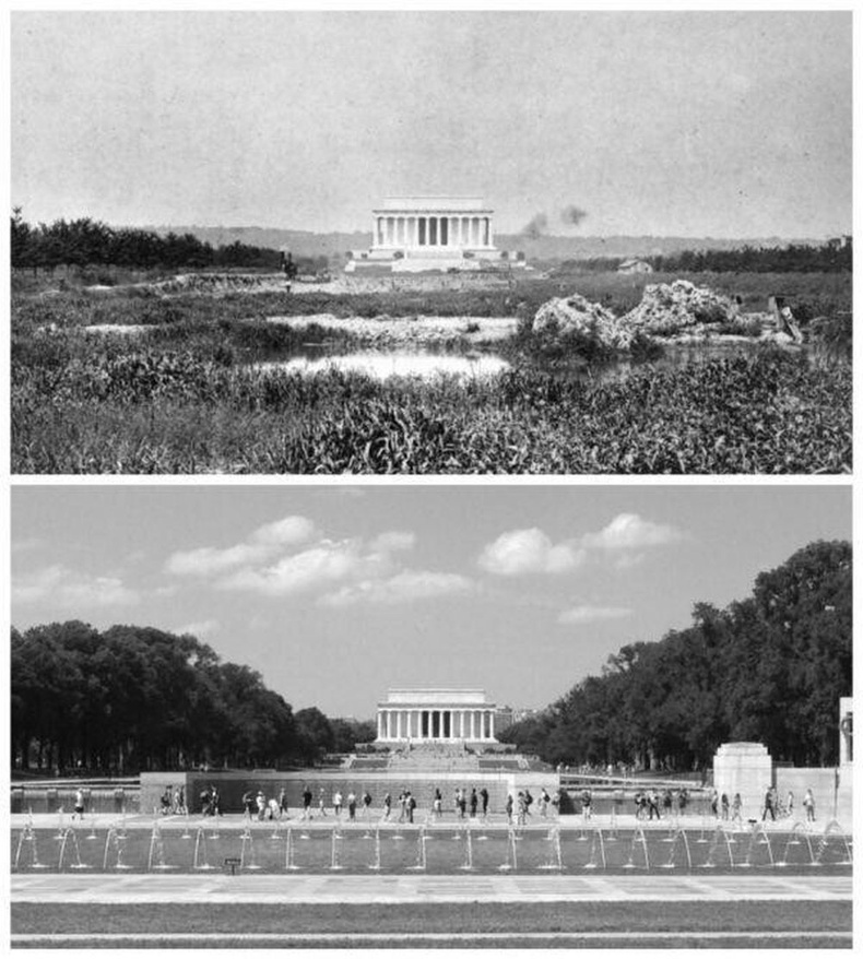 Линкольний хөшөө - 1922 болон 2016 он.