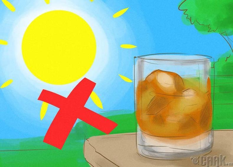 Нарны хор, туяа шингэсэн уух зүйлээс татгалз