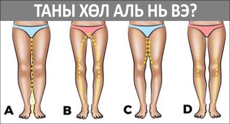 Эмэгтэй хүний хөлийн хэлбэр өөрийнх нь талаар юу өгүүлдэг вэ?