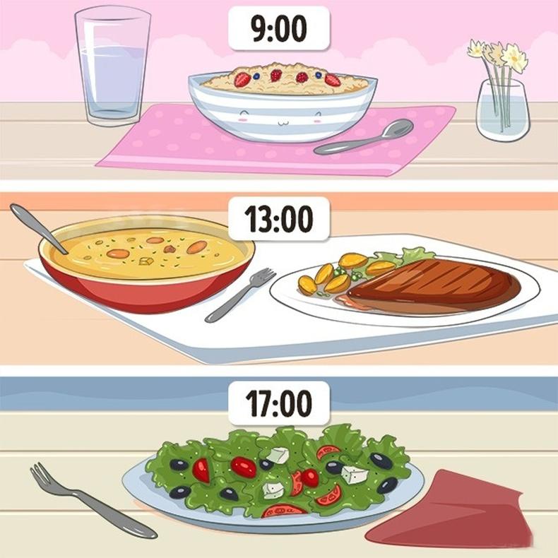 Өдөрт 3 удаа хооллоно