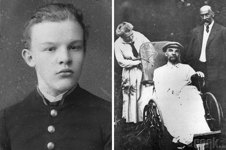 В.И.Лениний залуу үеийн болон нас барахын өмнөх өдрүүдийн зураг