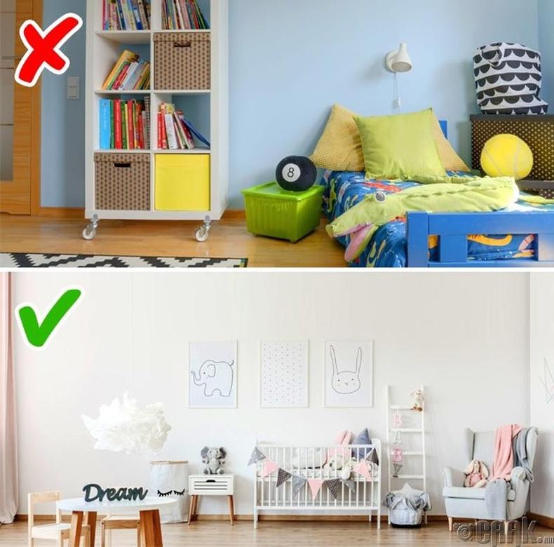 Хүүхдийн өрөөний хана заавал тод өнгөтэй байх ёстой