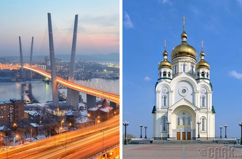 Оросын хамгийн нарлаг хотууд бол Владивосток, Хабаровск
