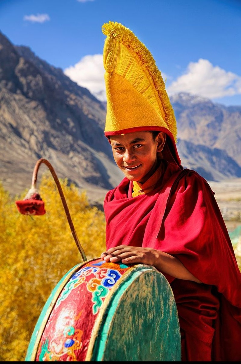Шарын шашны залуу лам, Нубрагийн хөндий, Энэтхэг