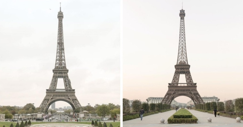 Парис дахь Эйфелийн цамхаг, Тиандучэн хот дахь Эйфелийн цамхгийн хувилбар