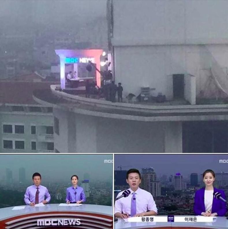 Солонгосын нэгэн телевиз задгай агаарт студи байгуулжээ