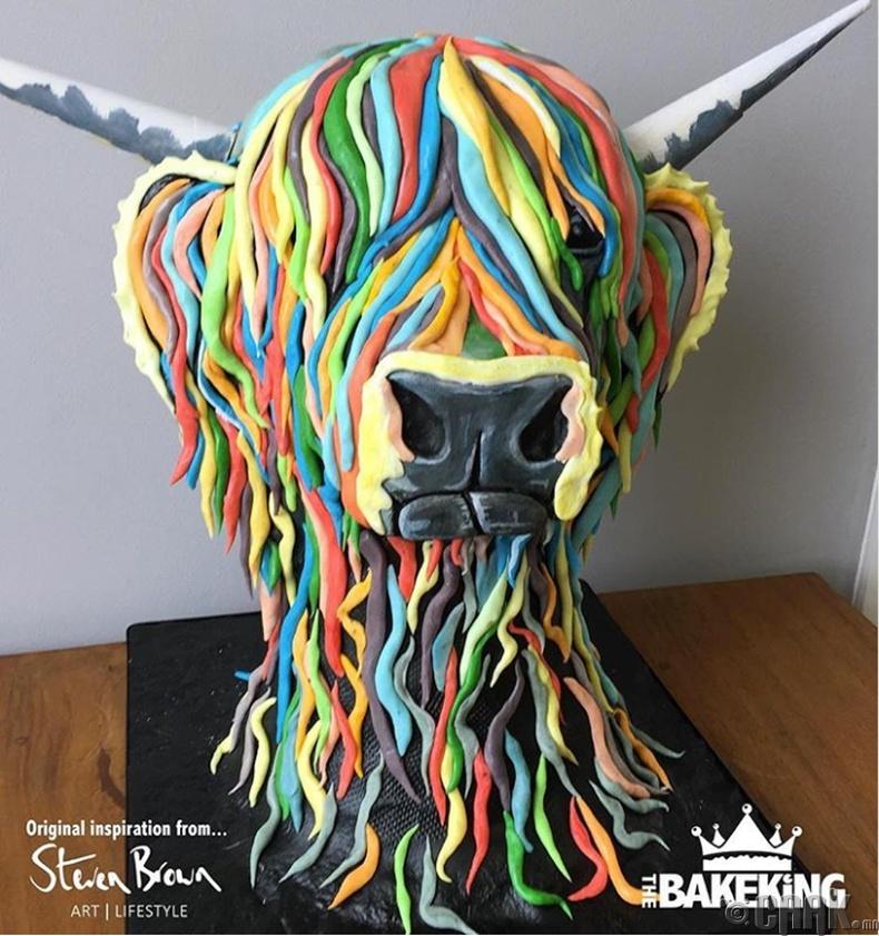 Зураач Стифен Браун (Stephen Brown)-ы зургийг дуурайлгаж хийсэн бялуу