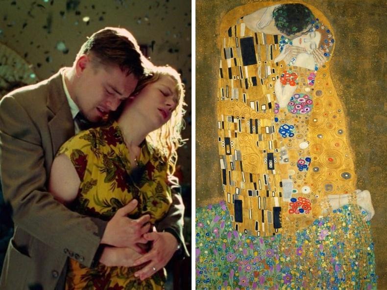 """""""Shutter Island"""" (2010), найруулагч Мартин Скорсези - """"Үнсэлт"""", зураач Густав Климт, 1909"""