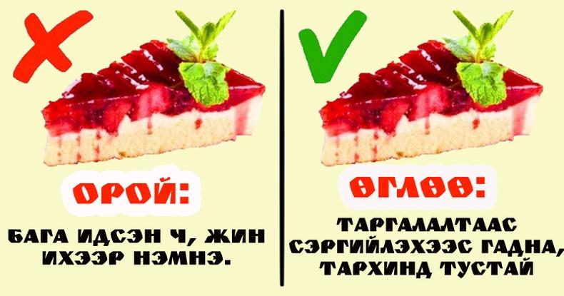 Өдрийн аль үед, ямар хоол идэх нь тохиромжтой вэ?