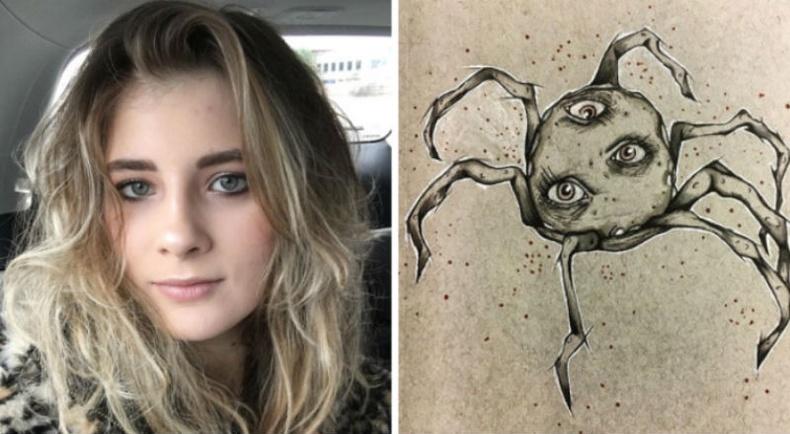 """17 настай """"шизофрени"""" өвчтэй охины зурсан гайхалтай зургууд"""