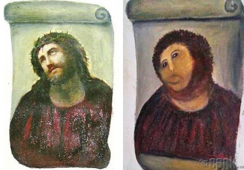 Испанийн сүм дэх Есүсийн хөргийг сэргээсэн нь