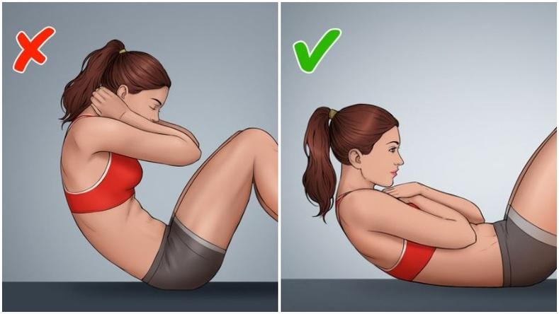 Ихэнх хүмүүсийн буруу техниктэй хийдэг 8 дасгал