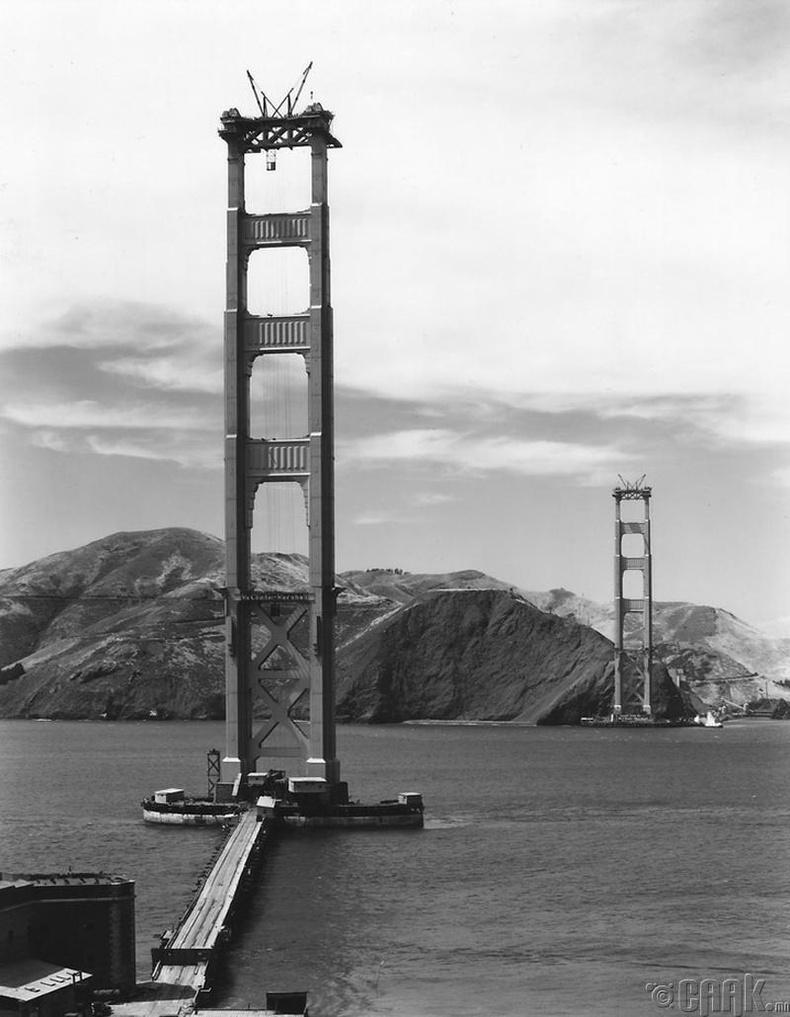 Голден Гэйт (Golden Gate) гүүрийн барилгын ажил