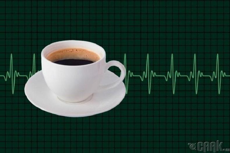 Кофе зүрхний үйл ажиллагааг дэмждэг
