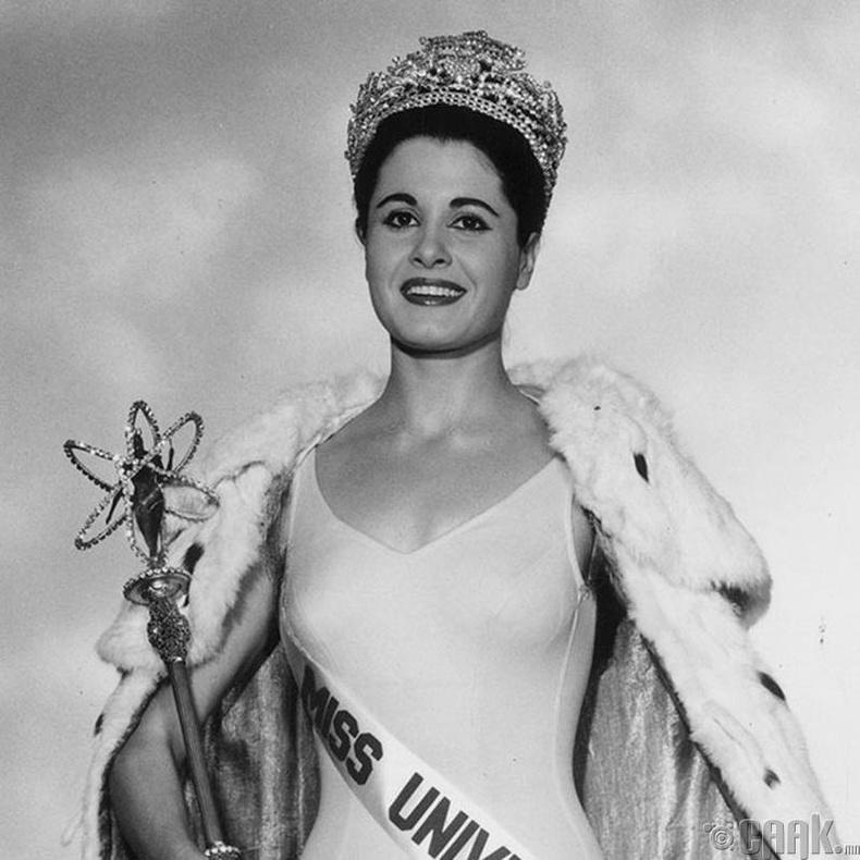 """""""Miss Universe-1962""""-ын ялагч: Аргентины гоо бүсгүй Норма Нолан, 24 настай, 166 см өндөр."""
