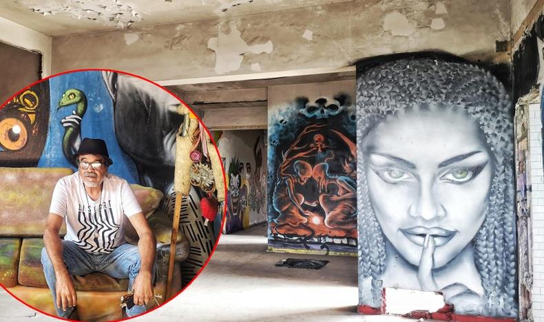 Орон гэргүй эр хаягдсан барилгыг гудамжны урлагийн музей болгож хувиргажээ (30+ фото)