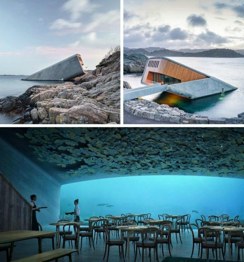 Норвеги дахь усан доорх ресторан